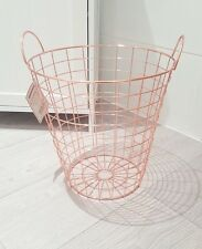 Copper Rose Gold Waste Bin Storage Basket Modern Bin Scandi Living Scandinavian