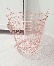 Copper Rose Gold Waste Bin Storage Basket Modern Bin Scandi Living Scandinavian