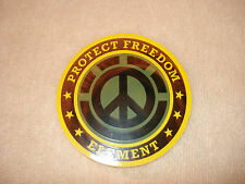 ELEMENT PROJECT FREEDOM PEACE SYMBOL ROUND SKATEBOARD STICKER