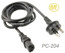 6ft Australia Type IEC 60320 to C13 Computer/ Peripheral Power Cord Cable