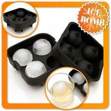 Ice Balls XXL Eiskugelform Silikon Eiswürfelform Eiskugeln für Whiskey Eisbälle