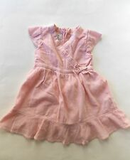 Old Navy 100% Cotton Pink Baby Dress Made in India 18 Months