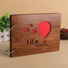 8 Inch Wood Cover 30 Sheets Self-Adhesive Photo Album Memory Wedding Sketchbook