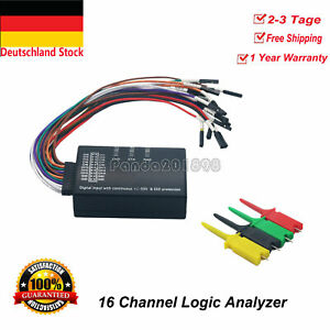 New 16 Channel Logic Analyzer USB 100M Sample Rate 16CH Version 1.1.34 1.2.10 DE