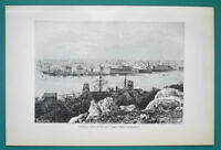 CUBA View of Havana - 1891 Antique Print Engraving
