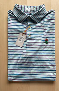 Burning Tree Club Peter Millar Summer Comfort Polo Golf Shirt Rare Logo L