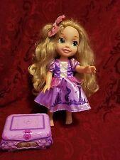 "Rapunzel Disney Princess 14"" Doll  Royal Reflection Eyes Plus Music Box Tangled"