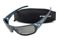 da5c5fb703 RARE POLARIZED New TAG Heuer RACER Matte Blue Grey Wrap Sunglasses TH 9202  804