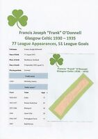 FRANK O'DONNELL GLASGOW CELTIC 1930-1935 EXTREMELY RARE ORIGINAL SIGNED CUTTING