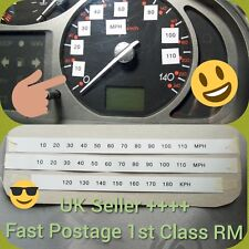 Speedometer Speedo cluster Dials Conversion kit Stickers mph kph km Universal #-