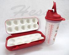 Tupperware Colomb eierbox + quick shaker plus, 600ml avec recette, rouge