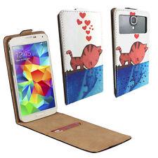 Handy Hülle | HUAWEI Ideos X3 | Flip Schutz Tasche | Flip XS Katze Liebe