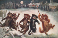 A/S LOUIS WAIN ~ COLLECTIBLE TUCK MISCHIEVOUS CATS 1906 COVETED POSTCARD GEM