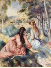 Pierre Renoir print, In The Meadow ,  unframed,plate c1890