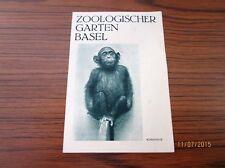 Werbeflyer Prospekt - Zoologischer Garten Basel, Fotos von Tieren + Preise /S40