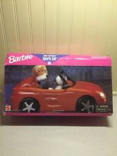 Barbie HOT DRIVIN SPORTS CAR 67532 ~ Red Convertible 1996