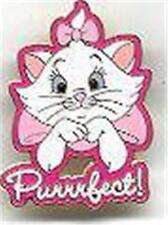 MARIE THE ARISTOCATS KITTEN PURRRFECT! Cat PINK BOW Disney PIN NEW