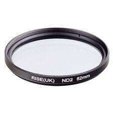 RISE(UK)52mm Neutral Density ND2 Filter for Canon Nikon Sony Fuji Samsung Lens