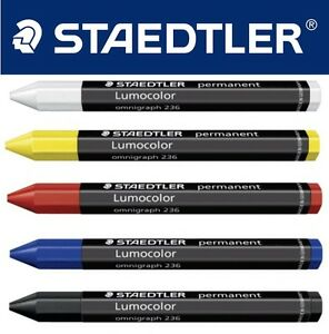 Staedtler China Marker Chinagraph Jumbo Crayon 12mm diameter - single by colour
