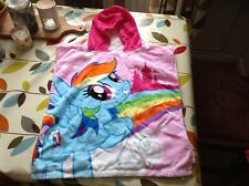 MY LITTLE PONY HOODED BATHTOWEL (4-7 YEARS )  IN GOOD CLEAN CONDITION