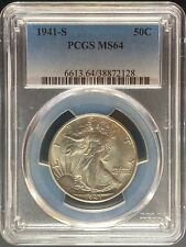 1941-S Walking Liberty Half Dollar - PCGS MS64