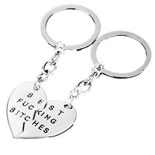 Charm Pendant Keyring Keyfob Keychains Gifts New Party Best Friend Best Bitches