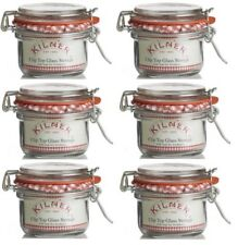 6 x Kilner Clip Top Glass Storage Jar - Round 125ML - Preserving jars