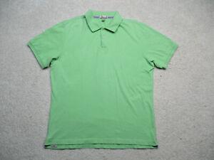 Peter Millar Polo Shirt Mens XL Green Short Sleeve Cotton Spandex Golf