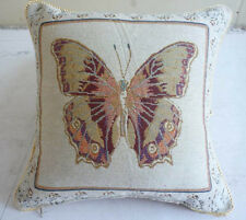 Chic Butterfly Chenille Cushion Cover 38cm