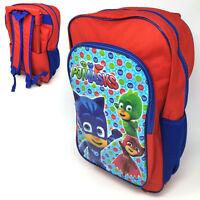 PJ MASKS DELUXE TROLLEY BACKPACK CABIN BAG KID CHILDREN BOY SUITCASE CATBOY TD