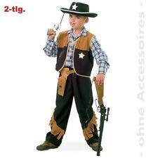 Fasching Karneval Sheriff Cowboy Kostüm 2-tlg. Gr. 116 NEU