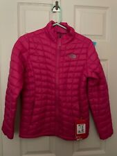 BNWT The North Face Girls Thermoball Pink Quilted Jacket - size L - RRP £120