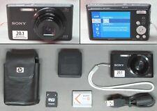 SONY CYBER-SHOT DSC-W830 20.1 MP DIGITAL CAMERA + ACCESSORIES