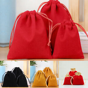 14 Colors Velour Pouch Jewelry Baggie Velvet Drawstring Gift Bag Candy Bag