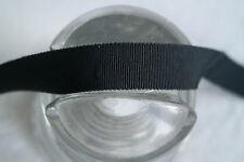 "5 yard 3/4"" Black vintage cotton rayon petersham grosgrain ribbon millinery hat"