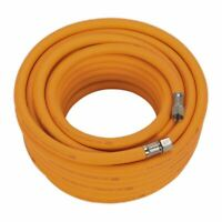 "Sealey AHHC15 Air Hose 15mtr x Ø8mm Hybrid High Visibility with 1/4""BSP Unions"