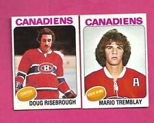 1975-76 OPC CANADIENS MARIO TREMBLAY RC + DOUG RISEBROUGH RC  CARD  (INV# D2547)