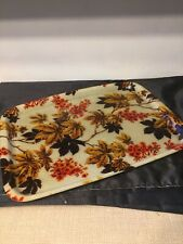 Vintage Retro Mid Century Fibreglass Tray Flowers Floral Autumn Leaves