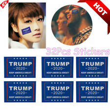 32Pcs Trump 2020 Waterproof Stickers Keep America Great For Body Face Clothes yu