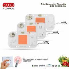 1pcs Hydroponice AC 220V 20w 30w 50w cob led grow light chip full spectrum 370nm