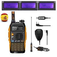 EU Baofeng *GT-3 TP* Mark III + Cabel + Mic 1/4/8W Radio Ham Emisora Transceptor