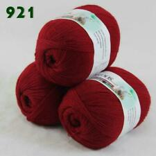 Sale 3balls50g LACE Acrylic Wool Cashmere hand knitting Scarf Yarn 921 Red