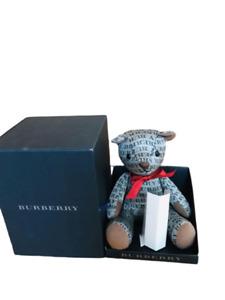 BURBERRY Thomas LOGO Bear Key Teddy Bear Bag Charm Keychain Cashmere w/ BOX