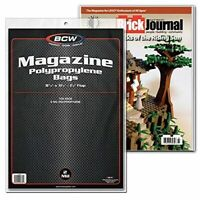 """BCW Crystal Clear 2-mil Polypropylene Magazine Bags 8-3/4"""" X 11-1/8"""" with 1-MAG"""