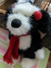 "Boyds Bears CHILLIE DOG #99017V 2005 6"" Plush Puppy Dog Red Earmuffs/Scarf NWT"