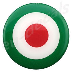 3.50inc 90mm green target 3D Decal Domed sticker car truck suv boat italian flag