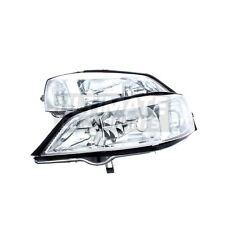 Vauxhall Astra G Mk4 Coupe 1998-2005 Chrome Headlights Headlamps Pair O/S & N/S