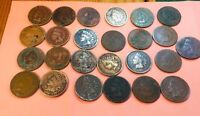 1892-1907 Indian Head Cent 25 Coins various dates (5 from 1890's)