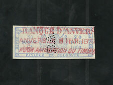 BELGIUM OLD 50 CS. REVENUE fiscal, tax STAMP INVERTED REVERSE WATERMARK lot #104
