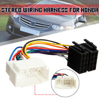 For Honda ISO Wiring Harness Stereo Radio Lead Wire Loom Connector Adaptor